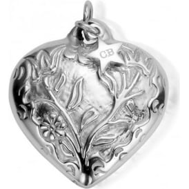 Iconics Silver XL Embossed Heart Pendant