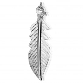 Iconics Silver XL Feather Pendant