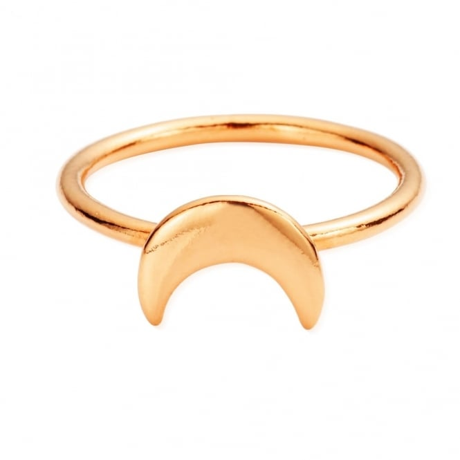 ChloBo Luna Soul Rose Gold Moon Ring