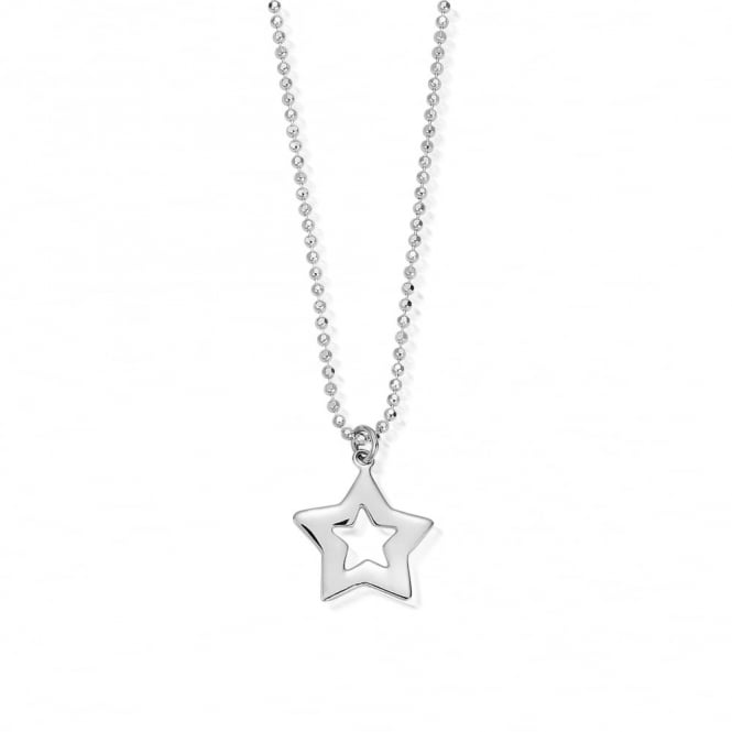 ChloBo Newbies Diamond Cut Chain Open Star Necklace