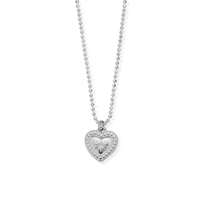 ChloBo Newbies Diamond Cut Chain Star Heart Necklace