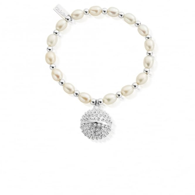 ChloBo Pearl And Silver Medium Dreamball Bracelet