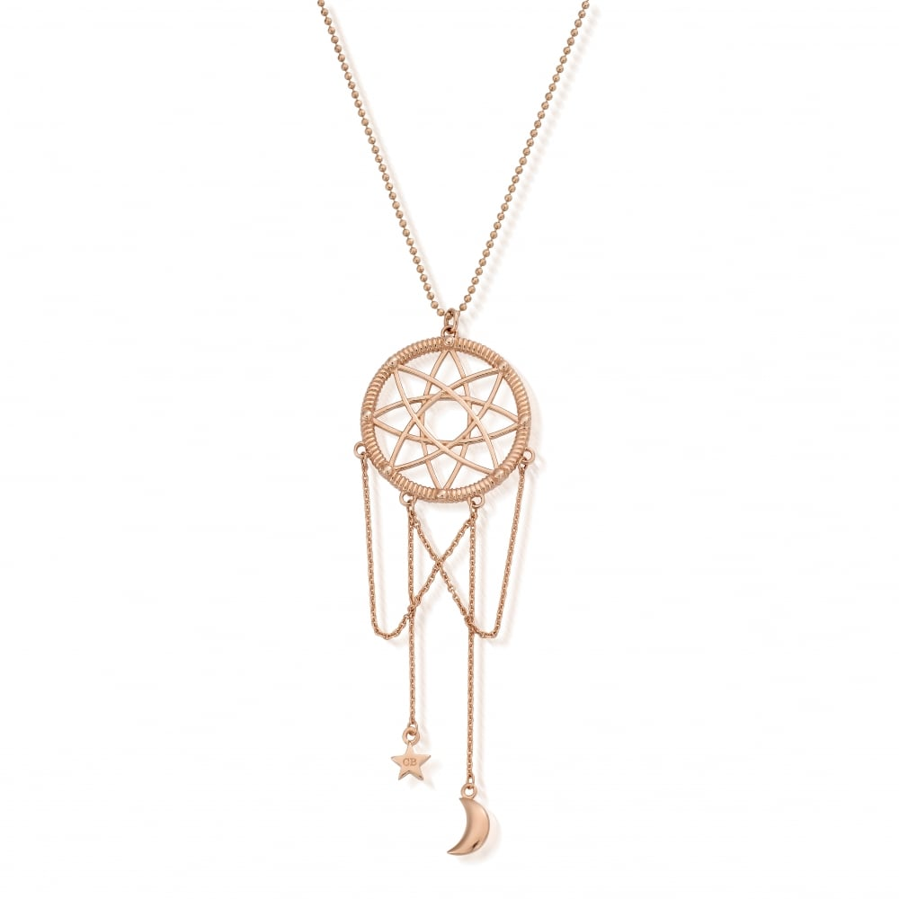 dreamcatcher gold personalised zoom listing il catcher fullxfull necklace rose dream