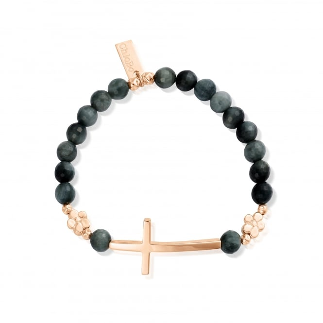 ChloBo Rose Gold & Eagle Eye Be Strong Bracelet
