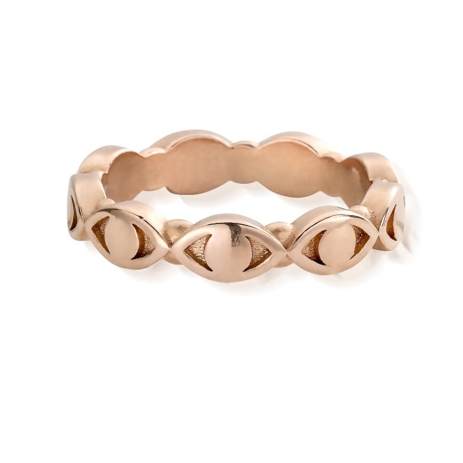 ChloBo Rose Gold Evil Eye Ring