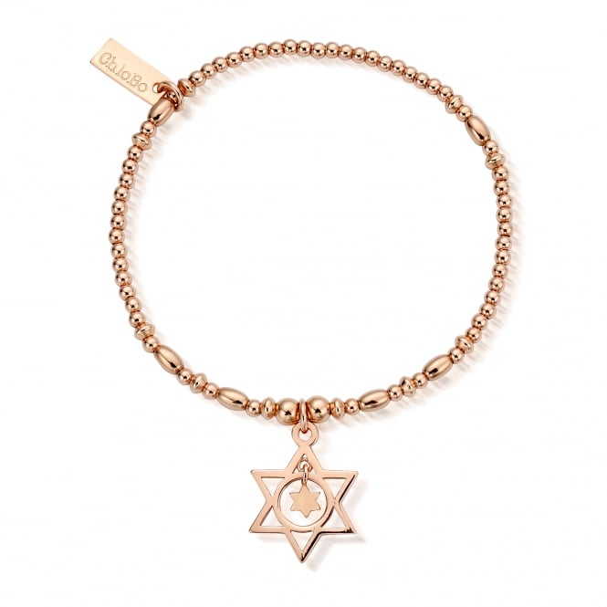 ChloBo Rose Gold Plated Star In Star Bracelet