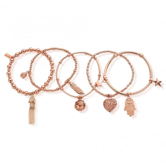 ChloBo Rose Gold Protection Set Of 5 Stack