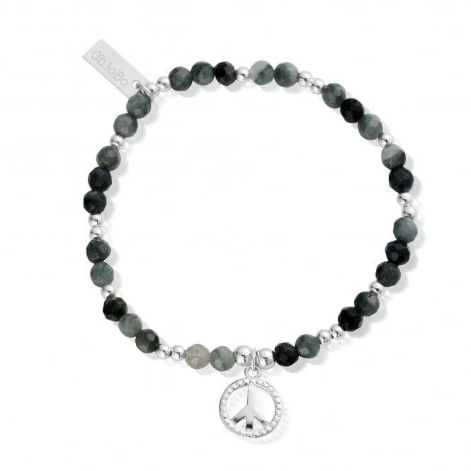 ChloBo Silver And Eagle Eye Be Calm Bracelet