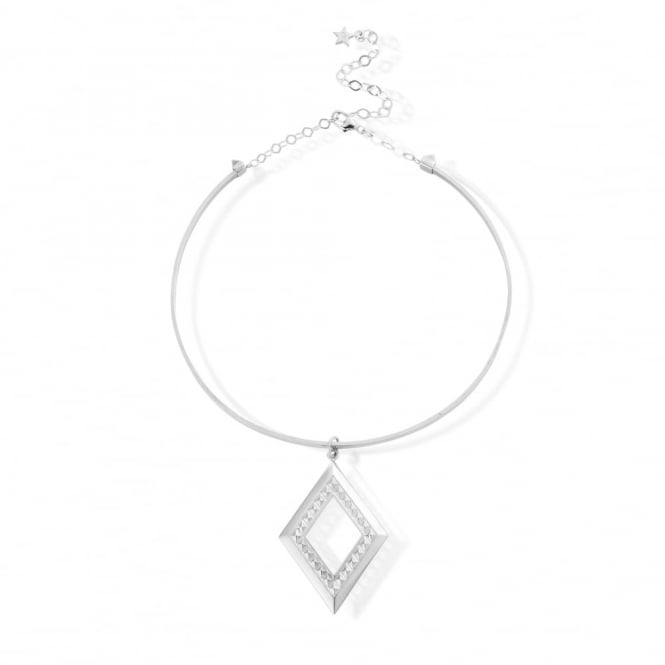 ChloBo Silver Crystal Vision Choker Necklace