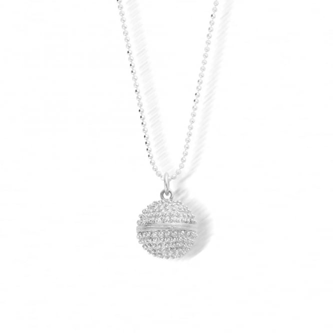 ChloBo Silver Diamond Cut Chain Dreamball Necklace