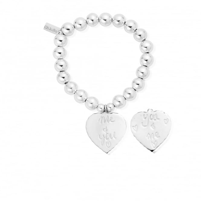 ChloBo Silver Me & You Medium Ball Bracelet