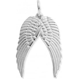 Silver Medium Duo Wing Pendant