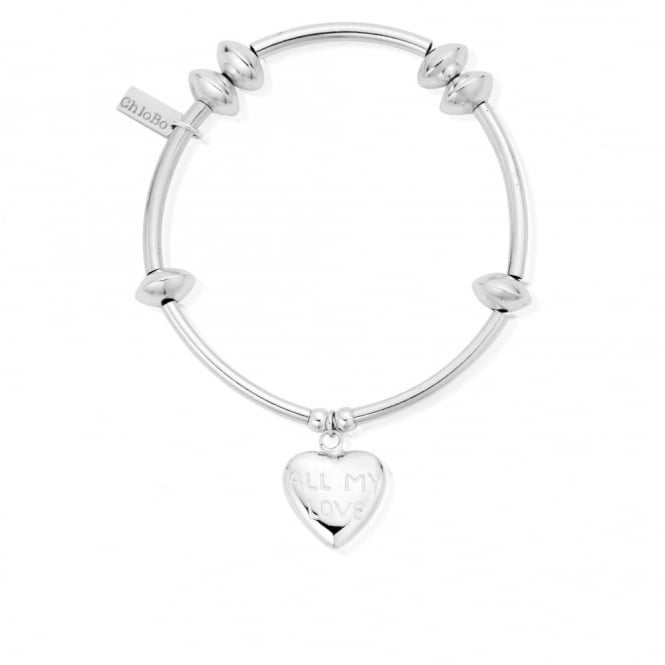 ChloBo Silver Noodle Disc All My Love Bracelet