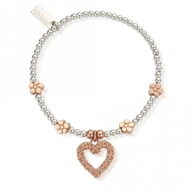 ChloBo Sterling Silver and Rose Gold Love You More Bracelet