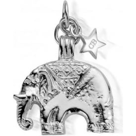 Sterling Silver Large Elephant Pendant