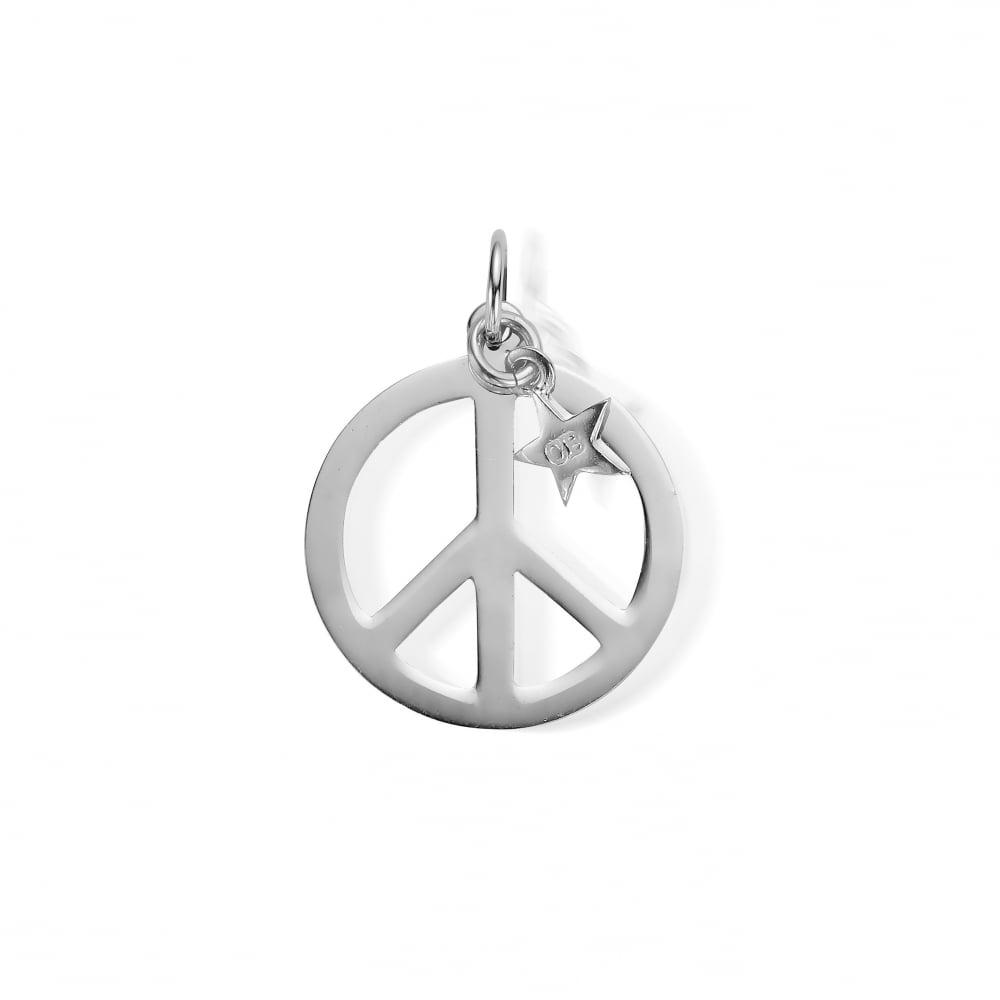Sterling silver large peace symbol pendant aloadofball Images