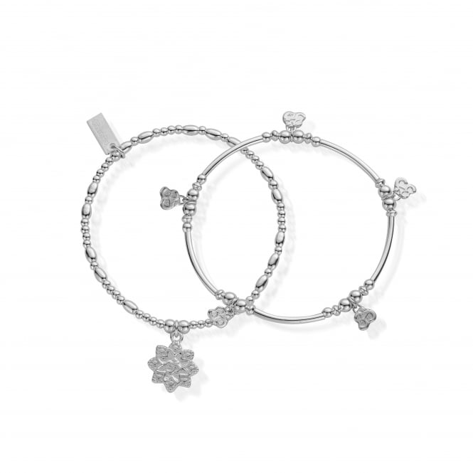 ChloBo Sterling Silver Mantra Set of Two
