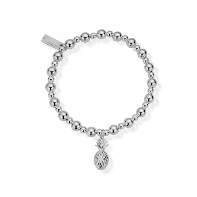ChloBo Sterling Silver Mini Small Ball Pineapple Bracelet