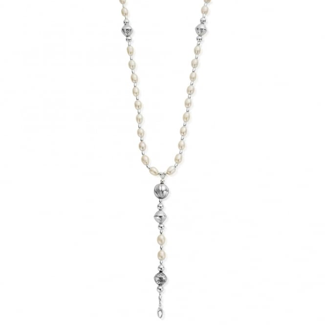 ChloBo Sterling Silver & Pearl Classic Rosary Necklace
