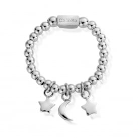 Sterling Silver Triple Charm Ring