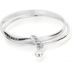Sterling Silver Zodiac Cancer Bangle