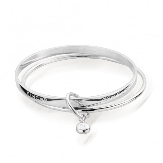 ChloBo Zodiac Silver Pisces Bangle