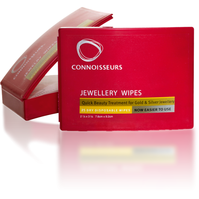 Connoisseurs UK Pack Of 25 Jewellery Beauty Wipes