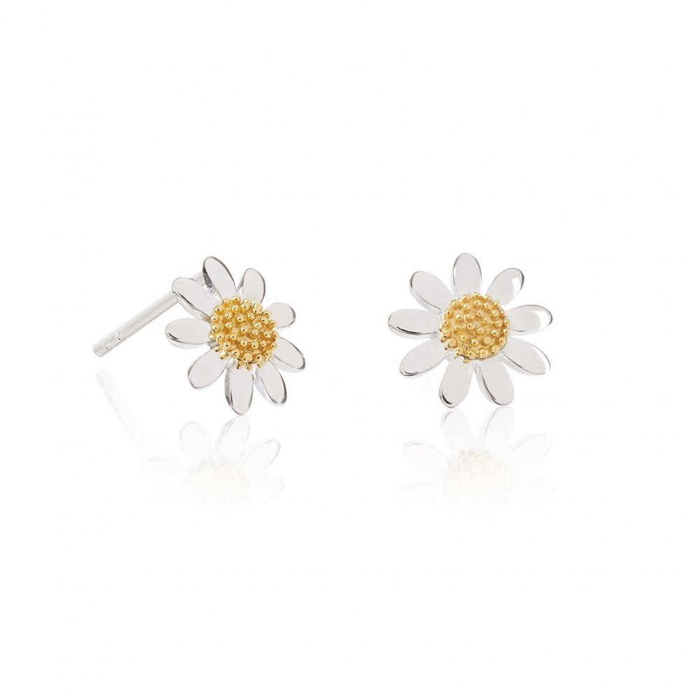 6682b42ad 10mm Sterling Silver Classic Marguerite Daisy Stud Earrings