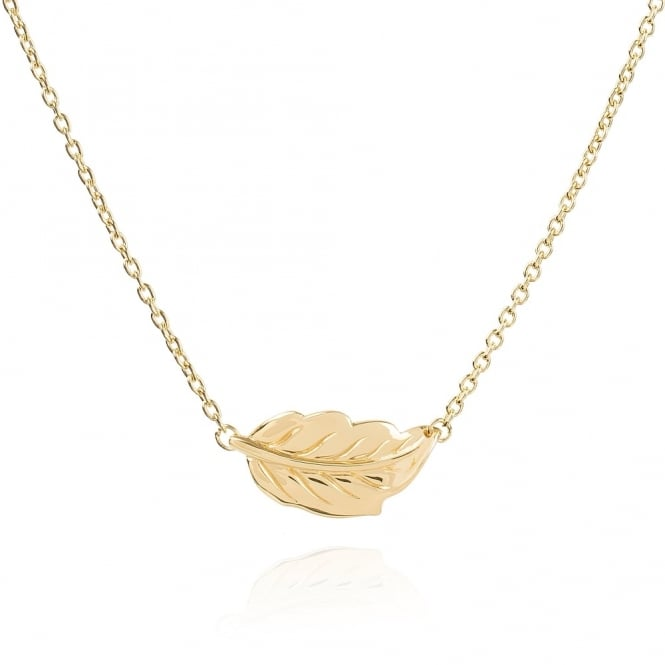 Daisy London 18ct Gold Plated Mulberry Leaf Necklace