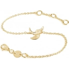 18ct Gold Plated Swooping Bird Necklace
