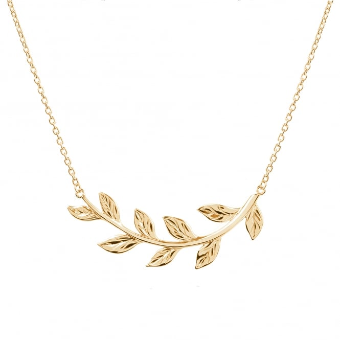 Daisy London 18ct Gold Plated Vine Leaf Necklace