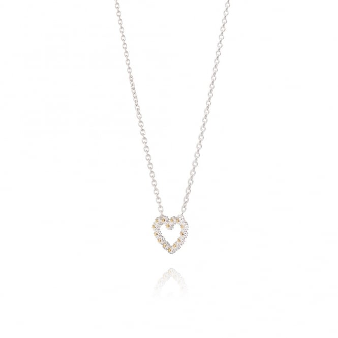 Daisy London Sterling Silver 11m Iota Heart Necklace