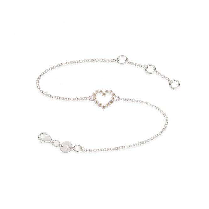 Daisy London Sterling Silver 11mm Iota Heart Bracelet