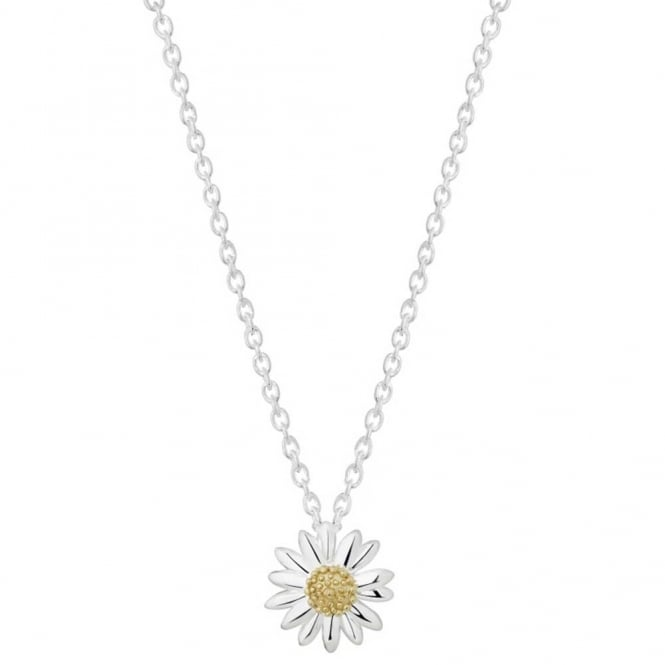 Daisy London Sterling Silver 15mm English Daisy Necklace