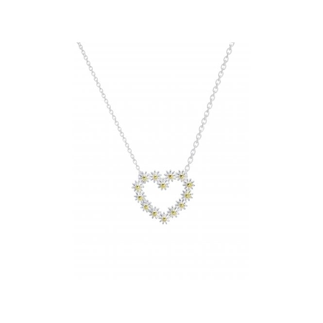 Daisy London Sterling Silver 16mm Iota Heart Necklace