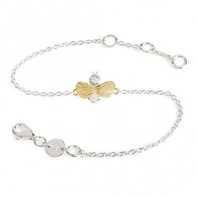 Daisy London Sterling Silver & 18ct Gold Plated Bee Bracelet