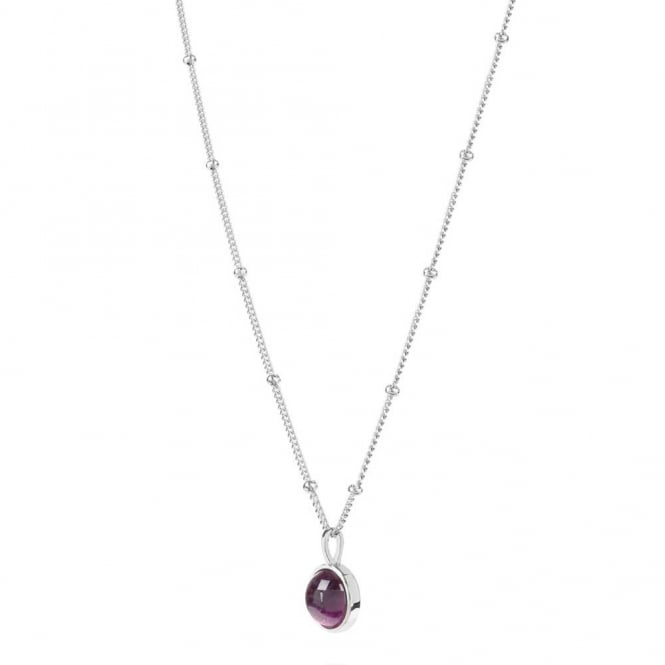 Daisy London Sterling Silver Amethyst Healing Stone Necklace