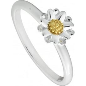 Sterling Silver Classic Daisy Ring