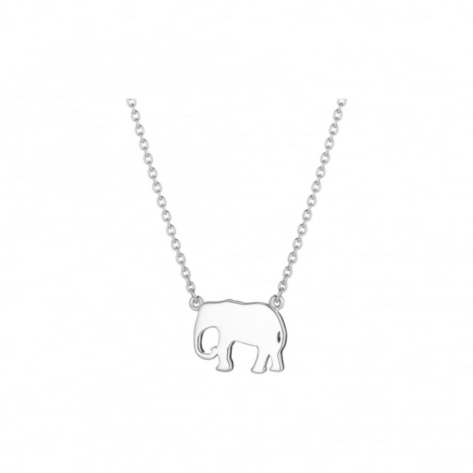 Daisy London Sterling Silver Elephant Good Karma Chain Necklace