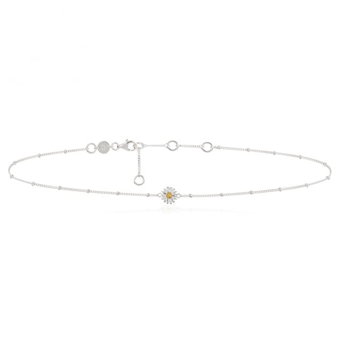 Daisy London Sterling Silver English Daisy Bobble Choker
