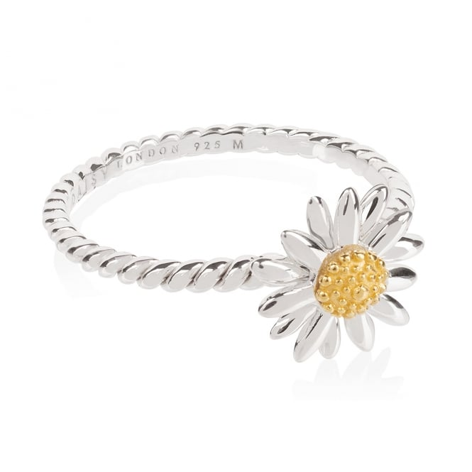 Daisy London Sterling Silver English Daisy Rope Ring