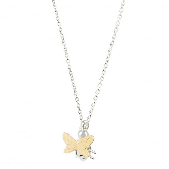 Daisy London Sterling Silver Gold Wing Bee Necklace