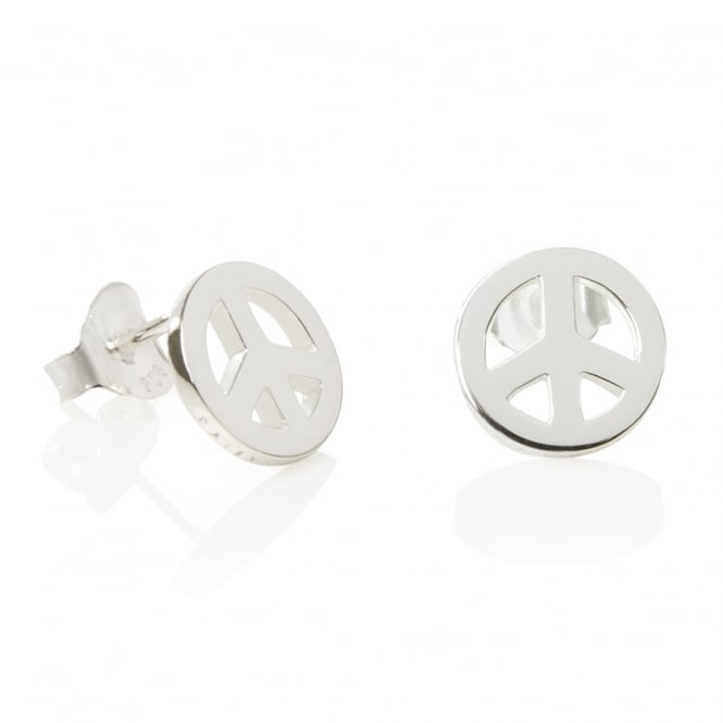 Daisy London Sterling Silver Good Karma Peace Studs