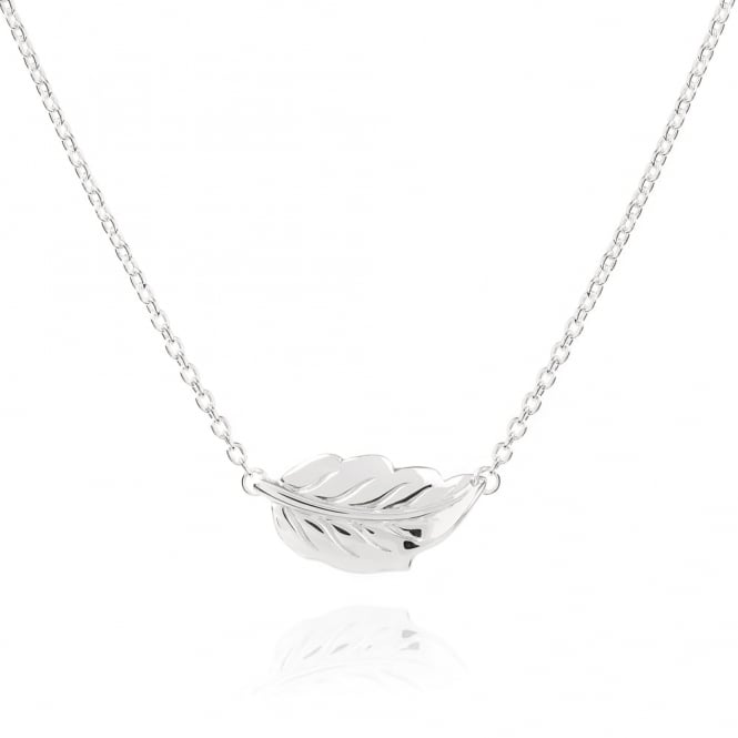 Daisy London Sterling Silver Mulberry Leaf Necklace