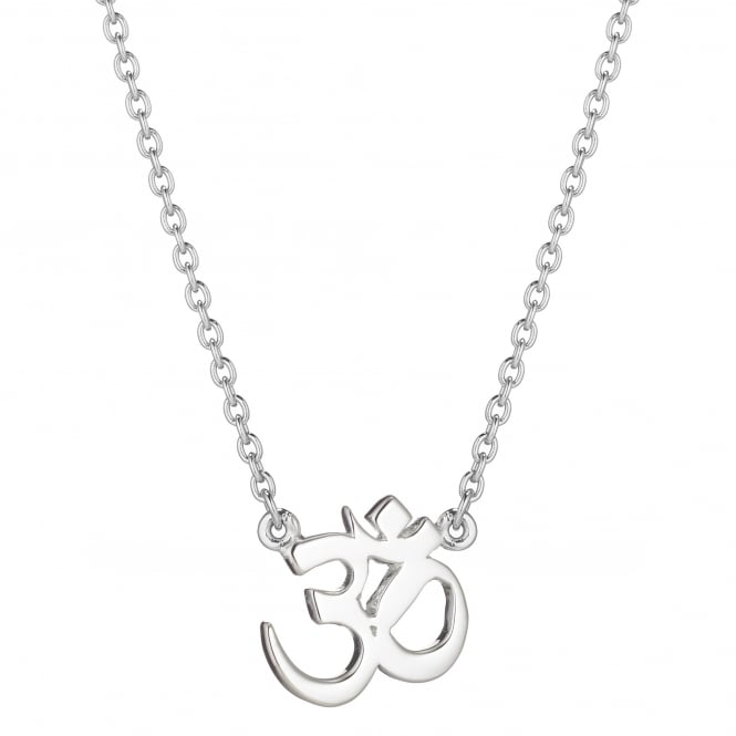 Daisy London Sterling Silver Om Good Karma Necklace