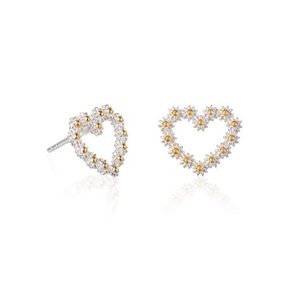 designs earrings products rowing strokeside stud heart
