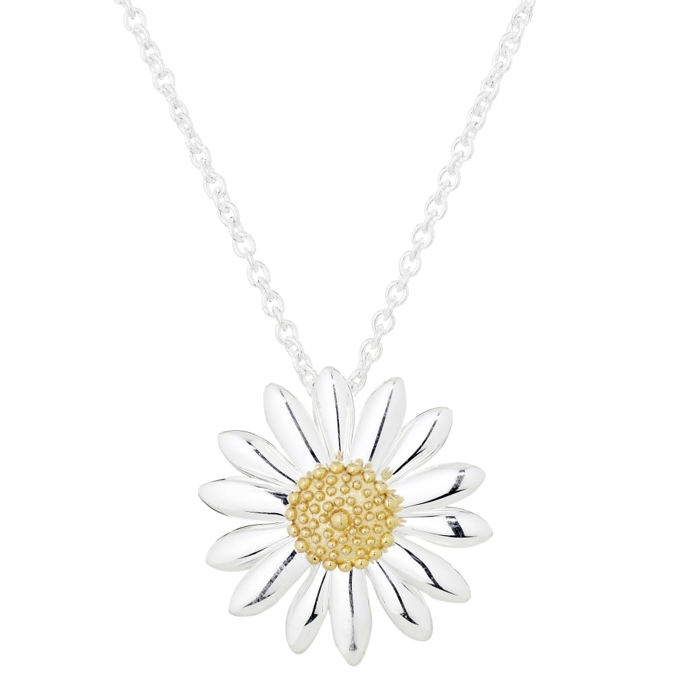 jewellery silver in necklace daisy pendant products pink itp the