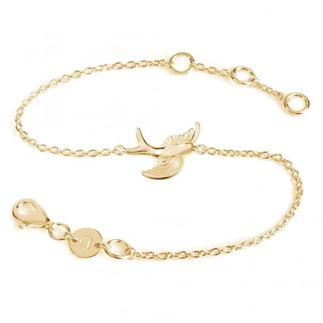Daisy London Sterling Silver & Yellow Gold Plated Swooping Bird Bracelet
