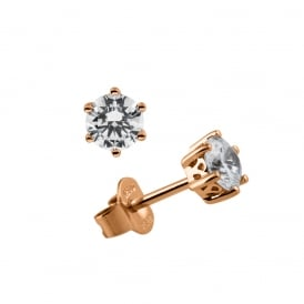 Rose Gold Plated 0.50ct CZ Stud Earrings