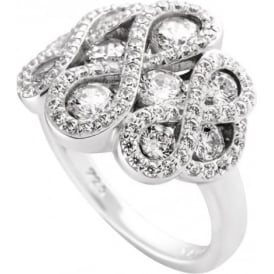 Silver Cubic Zirconia Fancy Ring